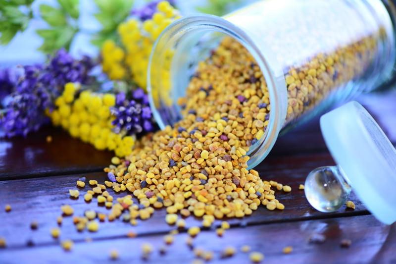Blütenpollen, Bienenblütenpollen, Bienenbrot, Bienenpollen, Blütenstaub